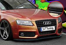Spoilerschwert Frontspoiler Lippe aus ABS für Audi A5 B8 ABE schwarz glänzend