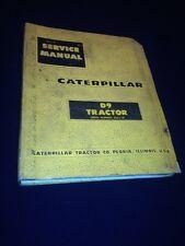 CATERPILLAR CAT D9 TRACTOR DOZER SERVICE MANUAL 66A1-UP