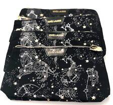 Lot of 5: ESTEE LAUDER Star Printed  Cosmetic Makeup Bag ~ Black
