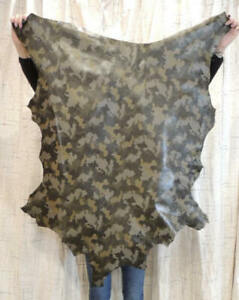 CAMO Full Grain Leather Hide for Purses Clothing Crafts Wallets Journal Covers
