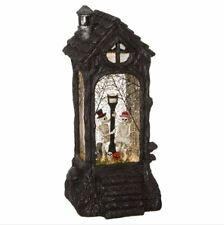 "Raz Imports Halloween Decor Skeleton Couple 11.5"" Water Lantern Glitter Globe"