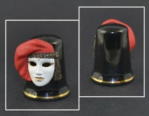 STERLING CLASSIC THIMBLE - CARNIVAL VENICE MASK