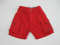 Timberland Baby 1/2 Elastic Waist Cargo Shorts size 6 months Colour Red T04382
