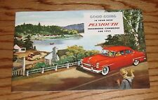 1953 Plymouth Owners Operators Manual 53 Cranbrook Cambridge