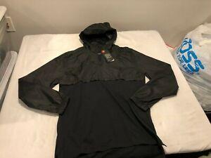 NWT $60.00 Under Armour Mens Sportstyle Anorak Jacket Black Size LARGE