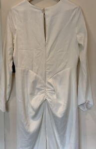Occassion By Dex Women Ivory Maxi Pencil Long Sleeve occasion dress size UK14