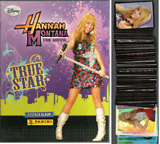 ALBUM FIGURINE PANINI HANNAH MONTANA THE MOVIE TRUE STAR quasi COMPLETO DISNEY