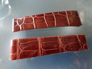 Rolex OEM Genuine Crocodile strap Brown Glossy 19mm New Old Stock very rare