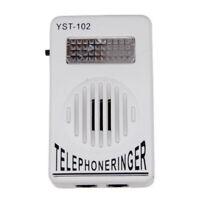 Extra-Loud Ringer Sound Telephone Phone Amplifier Strobe Light Flasher Bell 1pcs