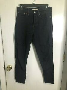"""Levi's Wedgie Skinny High Waisted Button Fly Black Jeans Womens SZ 28 Inseam 28"""""""