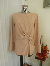 M&s Ltd Edition Nude Blush Pink Long Sleeve Tunic Top Size 18 Ladies RP