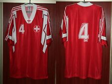Switzerland Suisse Adidas Player Issue Home Red Rare Vintage Shirt Jersey Trikot