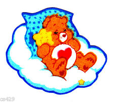 """2"""" Care bears tenderheart on a cloud fabric applique iron on character"""