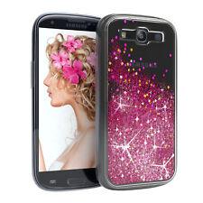 Für Samsung Galaxy S3 S3 Neo Glitzer Hülle Flüssig Silikon Case Handy Cover Pink