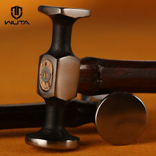 WUTA Leather Steel Double Head Hammer Smooth Mallet Craft Tool Wood Handle  X1