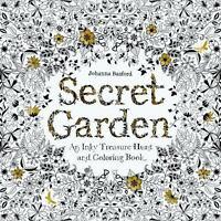 SECRET GARDEN Inky Treasure Hunt Coloring Book Johanna Basford Adult NEW Zen