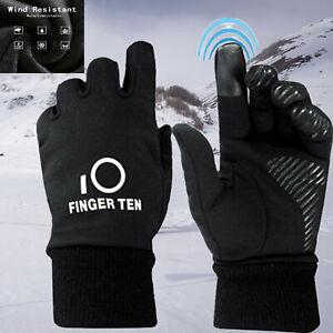 Kids Gloves Bike Pair Winter Ski Snow Soft Warm Running Sports Schooling Black