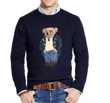 Ralph Lauren Polo Wool Blend Sweater Preppy Bear Sz LT Martini Ski martini