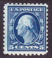 US Scott 466 old 5c Washington regular issue stamp M/NH/OG/VF CV $160