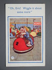 R&L Postcard: Comic Leslie Lester, Dodgem Bumper Car Fairground Ride Stockings