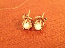 Vintage Pair of 12 Karat Gold Filled Opal Stud Earrings