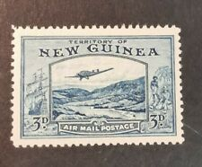 New Guinea 1939 Airmail Bulolo Goldfields 3d blue  Mint  Hinged J10