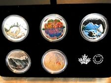 1 oz. Fine Silver Coloured 5-Coin Set – Landscape Illusion –Mintage: 5500 (2016)