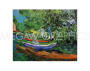 """VAN GOGH VINCENT - BANK OF THE OISE AT AUVERS, 1890 - ART PRINT 11"""" X 14"""" (309)"""