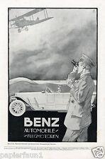 Benz Flight Motors Car Mannheim Advertising 1918 AD Flight Motor Behrmann Mercedes