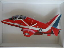 RAF RED ARROWS AEROPLANE DESIGN WALL CLOCK. NEW AND BOXED.PLANE