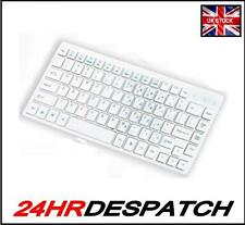 USB Wired Stylish Slim Qwerty Compact Keyboard UK For PC Desktop Laptop White