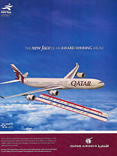 QATAR AIRWAYS AIRBUS A340 NEW FACE OF THE AWARD WINNING AIRLINE AD