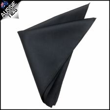 Black with Micro Check Texture Pocket Square