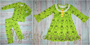 NEW Boutique Grinch Stole Christmas Dr Seuss Boys Girls Pajamas Nightgown