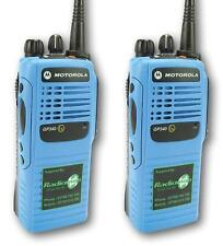 Motorola Gp340 Uhf Atex Bleu Ex I. S. Deux Voies Radios X 2 - (Mdh25rcc4an3bea)