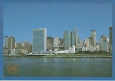 UNITED NATIONS, NEW YORK - RIVER VIEW OF BUILDING COLOUR POSTCARD