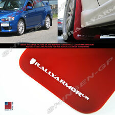 RALLY ARMOR UR RED MUD FLAPS FOR 2008-2014 LANCER EVO EVOLUTION X w/ WHITE LOGO