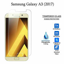 2 x Tempered Glass Screen Protector Premium Protection Samsung Galaxy A3 (2017)