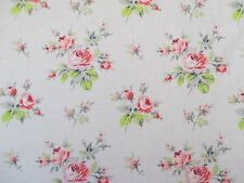 Anna Griffin Fabric GRACE Bouquet Green Pink CF-1606 Cotton Quilting Sewing BTY