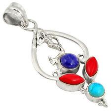 Turquoise Gemstone Beauty Round Costume Necklaces & Pendants