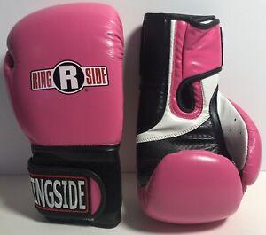Ringside IMF Tech Boxing Gloves Pink, Black & White - NEW