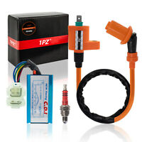 Ignition Coil CDI Spark Plug Kit For GY6 50-150cc 4-Stroke Engines Scooter Moped
