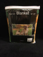 Labs Labrador Dog Puppy Dogs Yard Grass Super Soft Fleece Throw Blanket NEW