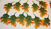 Fall Leaves Iron On Appliques Hand Cut Backed and Ready To Iron On Total of 12