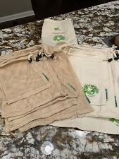 Organic Reuseable Produce Shopping Bags set of 10 Boho Valentines Gift Hipster