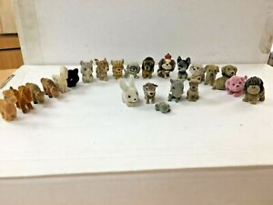 Tiny furry collectible pets action figures lot 23 cats dog lion ECT play display