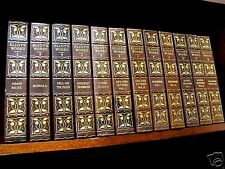 GEORGE ELIOT 12 Vol LEATHER SET Hand Colored Plates EDITION DELUXE Limited RARE