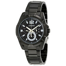 Citizen Black IP Stainless Steel Mens Multifunction Watch AG8335-58E