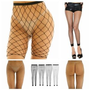 Womens Stretchy Mesh See-Through Fishnet Short Pants Leggings Stockings Cover Up