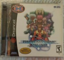 Phantasy Star Online (Sega Dreamcast, 2001) Complete w/ Demo Disc Free Shipping
